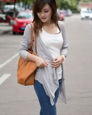 Women Grey Color New Style Summer Thin Knitwear Knitted Short Cardigan