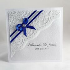 Personalised Luxury Lace Wedding Invitations with Envelopes. In 13 Colours
