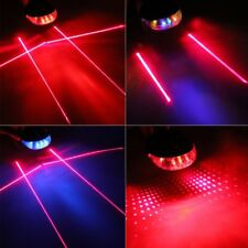 5 LED Laser Cycling Bike Light Rear Lamp Waterproof Laser Tail Warns Flashing KI