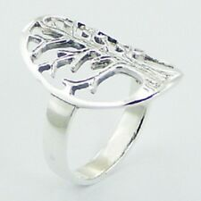 Silver ring 925 sterling oval antiqued silver Tree of Life 5us 6us 7us 8us 9us