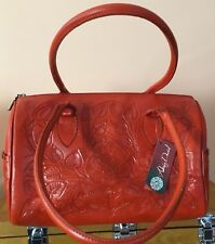 REDUCED AGAIN! Valentine Red Alexis David Leather Made in Mexico Handbag