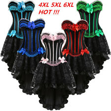 RED Burlesque Corset Dress Tutu Moulin Rouge Can Can Size 4XL-6XL
