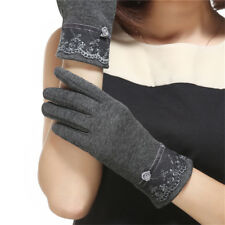 1 Pair Lace Womens Gloves Thouch Screen Winter Warm Elegant Gloves Mittens