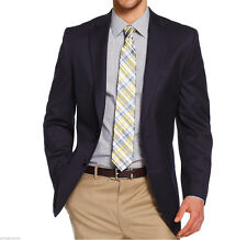 NWT MICHAEL KORS Navy Wool Modern Two Button Suit Sportcoat Blazer Jacket $295