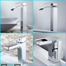 Waterfall Bathroom Taps Basin Mixer Tap Wow Square Chrome Cloakroom Mono Faucet