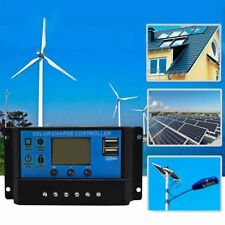 PWM 30A Solar Charge Controller 12V 24V LCD Display 2 USB Solar Panel Charger US