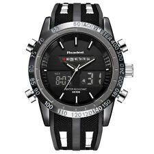Men Readeel Digital LED Date Day Stainless Steel Sport Alarm Quartz Wrist Watch