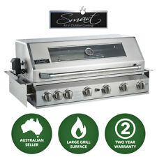 Smart 6 Burner Built-In LPG Gas BBQ with Rear Rotisserie Burner (601WB-W)