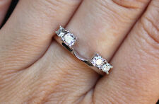 ZALES NEW 14K 1/2ct Diamond Solitaire Enhancer Ring Wrap Guard White Gold