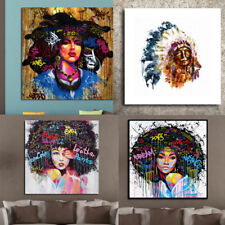 Canvas Frameless Beauty Indians Colorful Oil Painting Huge Wall Art Home Decor