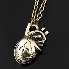 Vintage Steampunk Style Hollow Out Heart Shape Pendant Necklace Gifts WT88 01