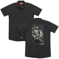 Rambo First Blood Movie WORN LIBERTY Licensed Adult Dickies Work Shirt All Sizes