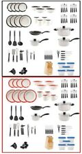 83-Piece Home Essential Total Kitchen Combo Set Cookware Dinnerware Flatware NEW