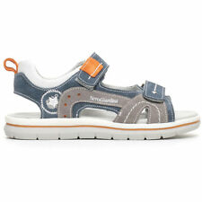 NERO GIARDINI TEEN P734270M/203 SMOKE BLUE GRAY SANDALS BABY BOY LEATHER SUEDE