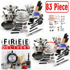 Cookware Set Nonstick 83 Piece Combo Set Stainless Steel Flatware Dinnerware Kit