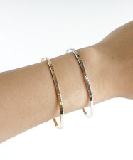 Live Laugh Love Bangle, Thin Gold Bangle, Simple Gold Bangle Bracelet, Silver En