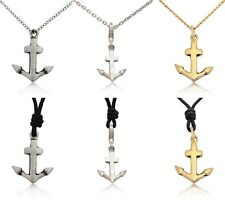Flawless Anchor Ship Boat Pewter Brass Sterling Silver Necklace Pendent Jewelry