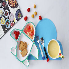 Ceramic Baby Feeding Kids Table Food Tray Plates Dishwasher / Microwave Safe