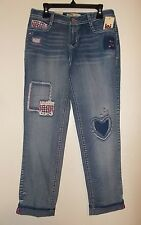 Girls Size 12 lei Brand Dylan Tomboy Cropped Adjustable Waist Jeans N