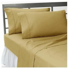 1000TC Egyptian Cotton Taupe Solid/Striped Bedding Items All US Sizes