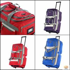 TOP Duffel Bag 26'' With Wheels Rolling Carry Large Men Women Travel Compartment