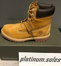 """TIMBERLAND 6"""" PREMIUM BOOT Wheat Nubuck 12909 Youth sizes 5Y-7Y"""