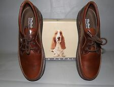NEW Men's Hush Puppies Mall Walker Antique Brown Leather tie casual