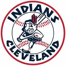 Cleveland Indians Circle LOGO Vinyl Decal / Sticker 5 Sizes!!!