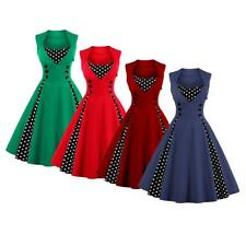 Women's Vintage 1950s 50s Style Rockabilly Cocktail Evening Prom Swing Dress