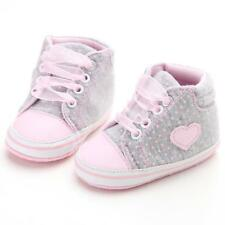 Infant Newborn Baby Girls First Walkers Sneakers Toddler Casual Crib Heart Shoes