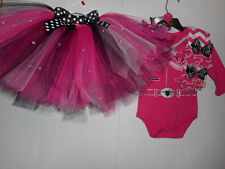 Handmade Cowgirl Tutu Outfit Halloween Costume 4-piece Various Toddler Sizes NEW