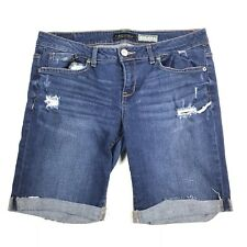 Aeropostale Womens Size 10 Distressed Bermuda Jean Denim Shorts