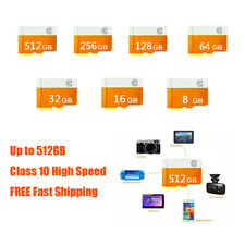 8/16/32/64/128/256/512GB Class 10 Micro SDHC SD TF Memory Card Lot for Phone Cam
