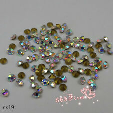 144pcs SS2-SS20 Crystal AB Point Back Crystal Glass Rhinestones China A+ Grade
