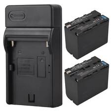 2x 7800mah Replacement Battery For Sony NP-F960 NP-F970 Camera Battery + Charger