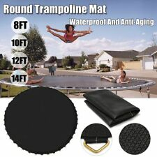 Replacement Upper Bounce Trampoline Jumping Mat Round W/48 V-Rings 8 10 12 14FT