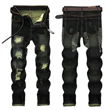 Men Denim Jeans From China Ripped Slim Fit Tapered Leg Jeans Vintage Style