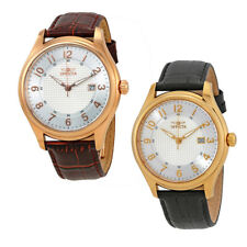 Invicta Vintage Silver Dial Leather Mens Watch - Choose color