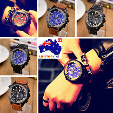 Men Vintage Watch Stainless Steel Fashion Military Sport Quartz Analog Watch