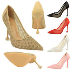 New Fashion Women Stilettos High Heels Shallow Pointed Toe Pumps Net yarn Shoes