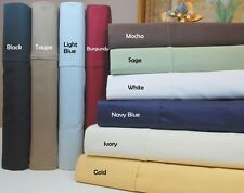 Elegant Bedding 1 pc Fitted Sheet 1000 TC Egyptian-Cotton UK Sizes All Solid