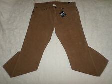 GAP CORDUROYS STRAIGHT PANTS MENS SIZE 38X30 ZIP FLY LIGHT BROWN COLOR NWT