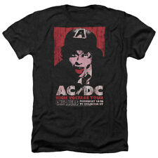 ACDC AC DC HIGH VOLTAGE CONCERT TOUR LIVE 1975 Adult Heather T-Shirt All Sizes