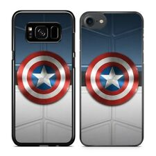 Captain America Shield Marvel Hard Plastic Case Cover for iPhone Samsung Galaxy