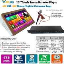 22'' TSR Touch Screen Jukebox Karaoke Player  2TB HDD 40K Thai VCD DVD  Songs