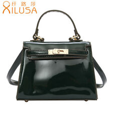 Xilusa Women Orange Handbag Trapezoidal Shoulder Bag Vintage Green Crossbody Bag