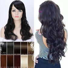 Charming Women Long Black Curly Hair Synthetic Cosplay Daily Party Full Wig Wigs