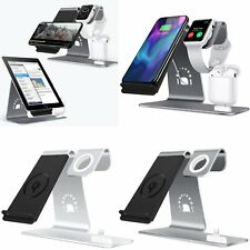 3in1 Qi Wireless Charging Stand Fast Charger for Apple Watch Airpods iPhone X 8