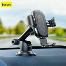Baseus 2in1 Qi Wireless Car Charger Holder for iPhone X 8 Samsung S9 Charging