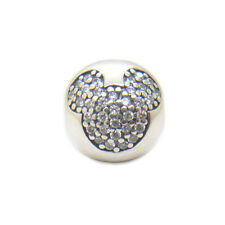 Authentic Sterling Silver Sparkling Disney Mickey CZ Clip Bead Charms